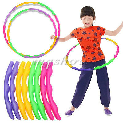 Adjustable Colourful Child Hula Hoop Sports Aerobics Fitness Gymnastic 55/65cm