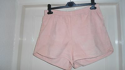 Size 14/16 Pink Cord Shorts With Elastic Waist By American Apparel
