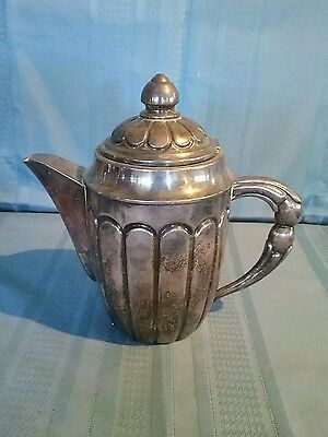 Vintage Small Silver Plated Pitcher with Hinged Lid