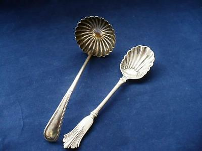 Antique W Howe & Co 1858 + Silver Plate Ladle - 1886 Silver Plate Spoon