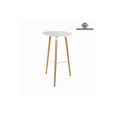 Table haute blanche by Craften Wood