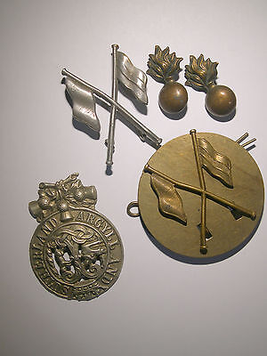 Ww1 Signallers Badges Plus Argylls Badge And Pair Collar Dogs