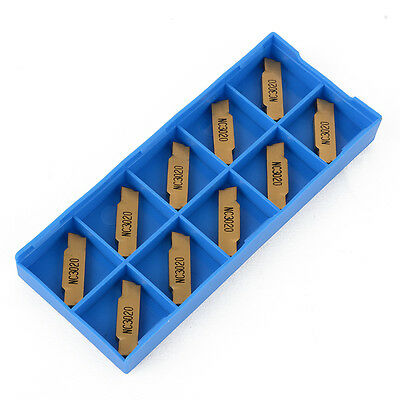 10pcs MGMN300-M Carbide Inserts Blades 3mm Width For MGEHR/MGIVR Grooving Tool
