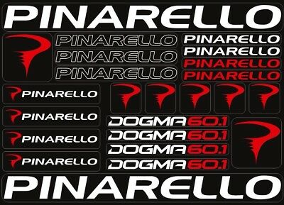 pinarello bike bicycle frame decals stickers graphic adhesive set vinyl black