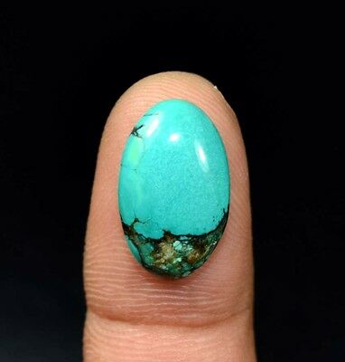 7.25 Cts. 100 % Natural Tibet Turquoise Oval Cabochon Loose Gemstones For Ring
