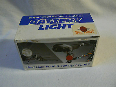 NOS 80s Battery Tail Lamp, Model FL-10T. Old School. Racer, Bicycle