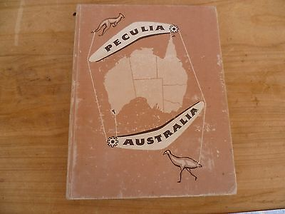 Vintage Old Small Size Peculia Australia Hard Cover Book, (D19)