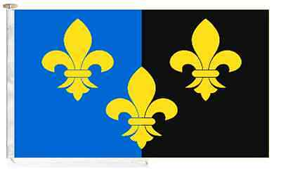 Monmouthshire Sir Fynwy County Roped & Toggled 2 Yard Courtesy Boat Flag