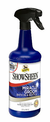 absorbine showsheen miracle groom 946 ml horse de-tangle & shine stain remover