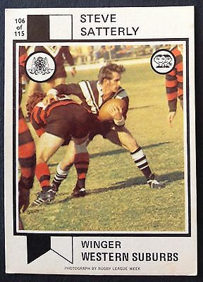 Scanlens 1974 Rugby League Football Card # 106