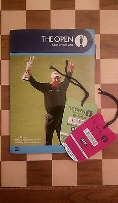 OFFICIAL GOLF PROGRAMME & 2 x TICKETS THE OPEN ROYAL BIRKDALE 2008