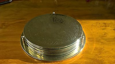Vintage Silver Plated Table Mats Set