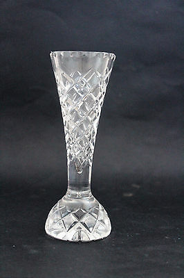 Vintage DIAMOND CUT glass bud vase.