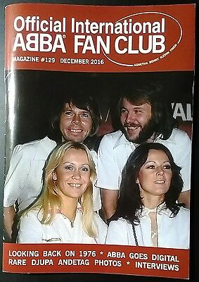 Official International ABBA Fan Club Magazine Issue 129 December 2016 + Stickers