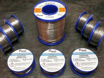 Real Cynel low melt temperature leaded Sn60Pb40 2.5% Flux core solder wire