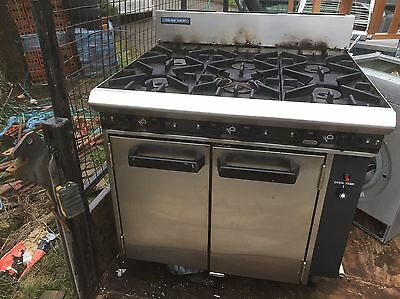 Cooker 6 Ring Oven Model Blue Seal Natural Gas