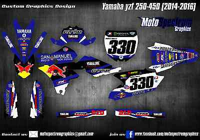 Yamaha YZF 250  450 graphics kit 2014 2015 2016 Decals Stickers
