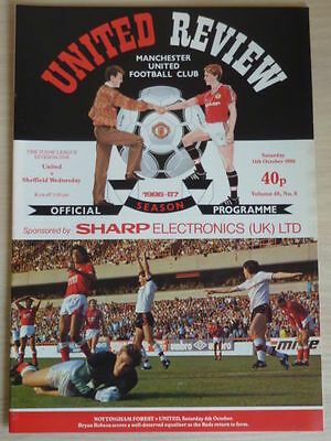 MANCHESTER UNITED v SHEFFIELD WEDNESDAY 11th October 1986