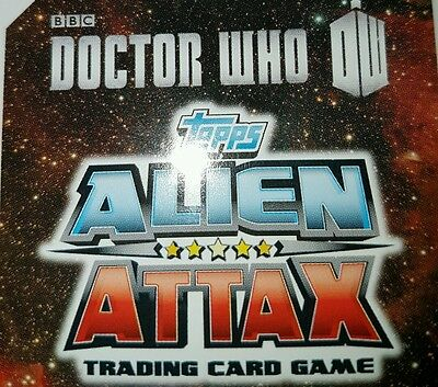 Doctor who alien attax 50th anniversary cards - Full base card set - common