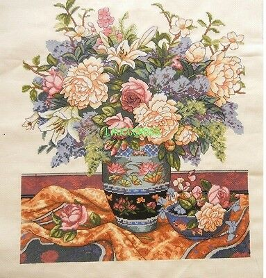 """New Completed finished cross stitch needlepoint""""Classical vase""""Decor Gifts"""