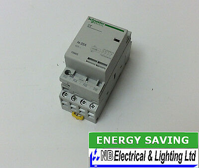Schneider Contactor 25 Amp 4 Pole N/closed 230V Coil To Clear (S163)