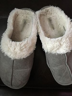 Ladies Well Worn Slippers Size 8