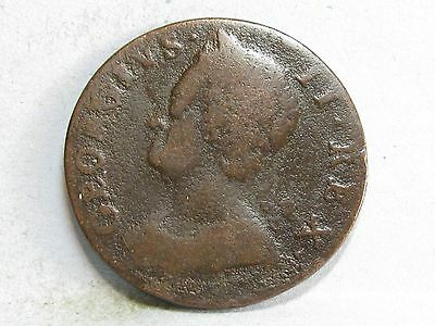 George Ii Copper Halfpenny Coin Dated 1745