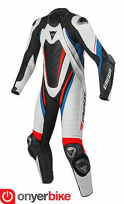 Dainese Aero Evo D1 2016 Race One 1 Piece Leather Motorcycle Motorbike Suit Blue