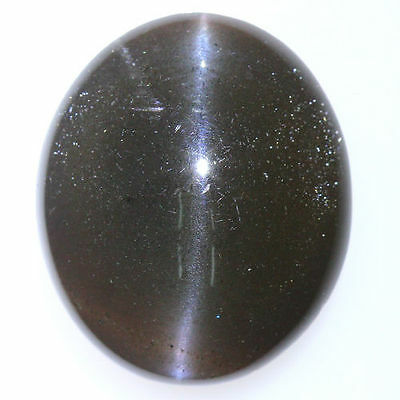 14.070 Cts UNIQUE COLLECTION VERY RARE GREEN SPECTROLITE CAT'S EYE INDIA MINE!!!
