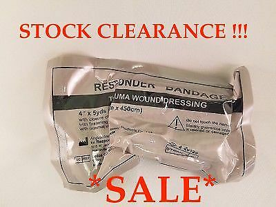 CLEARANCE SALE! Responder Bandage - Trauma Wound Dressing With Clamp 15cm X 4.5m