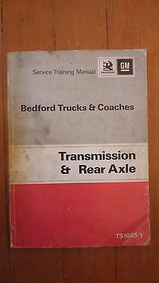 Workshop Manual For Bedford Trucks And Coaches Transmission And Rear Axle