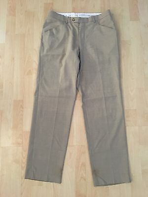 Mens Beige Golf Trousers By Oscar Jacobson Size 34