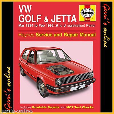 1081 Haynes VW Golf Mk 2 Petrol (Mar 1984 - Feb 1992) A to J Service Manual