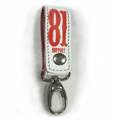 044 Hells Angels Support81 white  Keychain Musketon