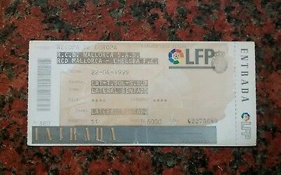 Ticket Stub.Chelsea Away v Real Mallorca 98/99 UEFA CWC Semi Final. Rare Unused.
