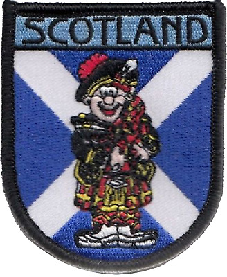 Scotland Scottish Piper Flag Embroidered Patch Badge