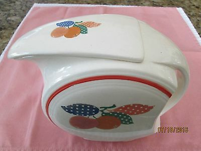 Vintage 1950's Calico Water Pitcher With Lid