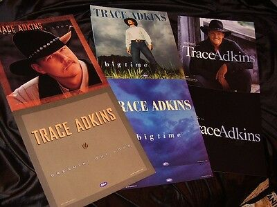 Trace Adkins *SIX Large Cardboard Poster Flats*THREE Different Styles!