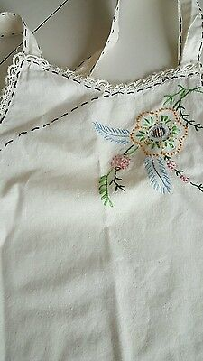 Vintage Apron Embroidered Stitched Full Bib