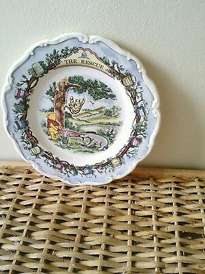 Winnie the pooh Royal Doulton wall plate The Rescue