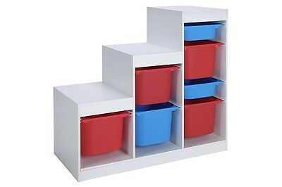 Frame and Plastic Storage Unit Children's Play Toy Organizer Bedroom Toy Box