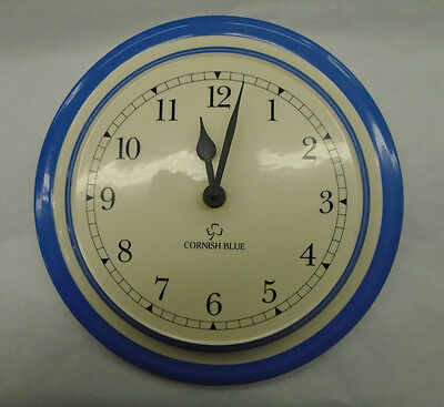 Stunning T G Green Cornishware Blue & White Wall Clock - RARE