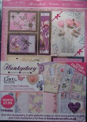 Hunkydory ~ LACE IN BLOOM Luxury Paper Collection (14 sheets)