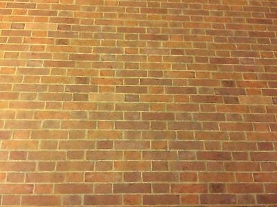 NEW Dolls House Wallpaper *Weathered Red Brick ~ DIY 263J