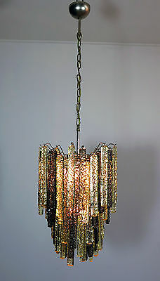 Venini Murano chandelier in the manner – 84 prism icicle