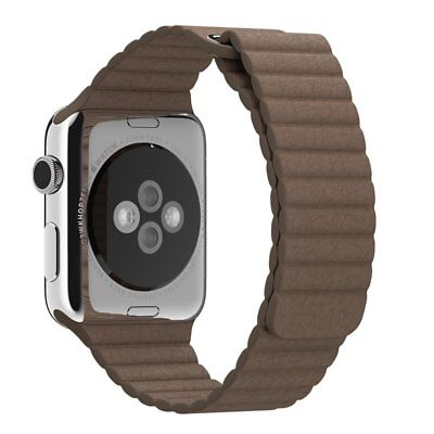 Genuine Apple MJ532ZM/A 42mm Leather Loop - Large - watch strap - light brown