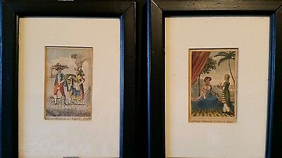 A VERY RARE Fine Pair of 19th Century Continental topographical coloured prints