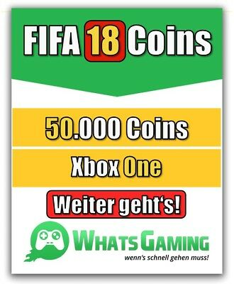 FIFA 18 - FUT - ULTIMATE TEAM - 50.000 Coins - 50k Münzen - Xbox One -