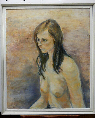 Original Oil Painting - Signed - Nude female - in simple frame