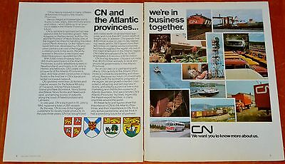 1974 Cn Canadian National Trains Boats Bus Shipping In Maritimes Transport Ad